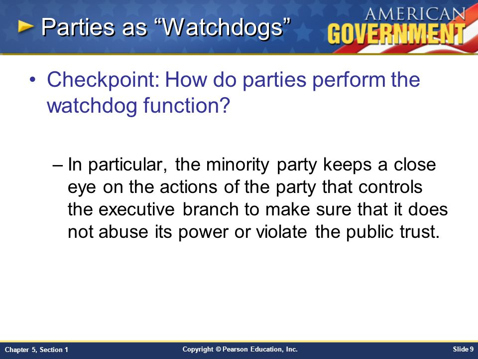 Parties as Watchdogs