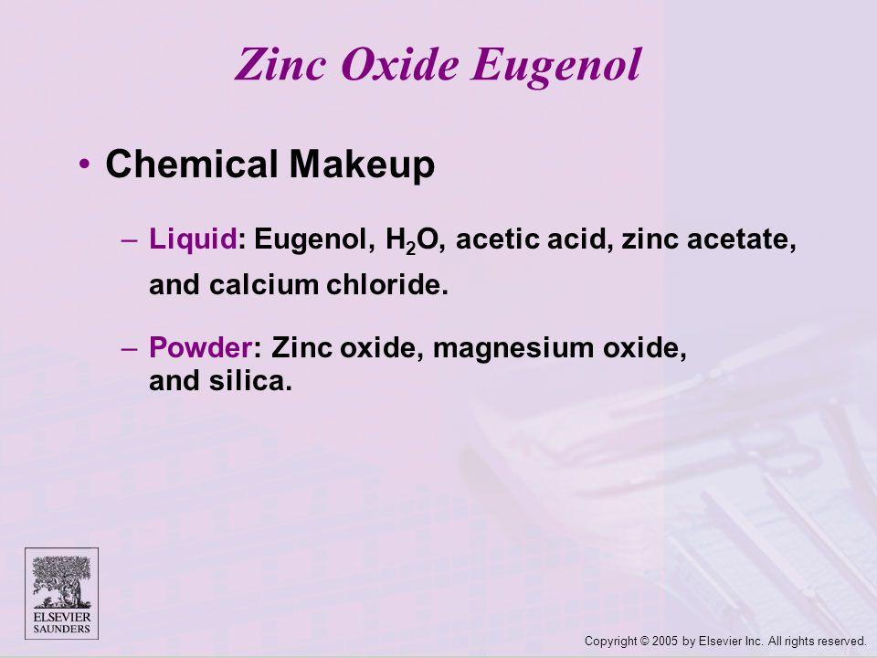 Zinc Oxide Eugenol Chemical Makeup