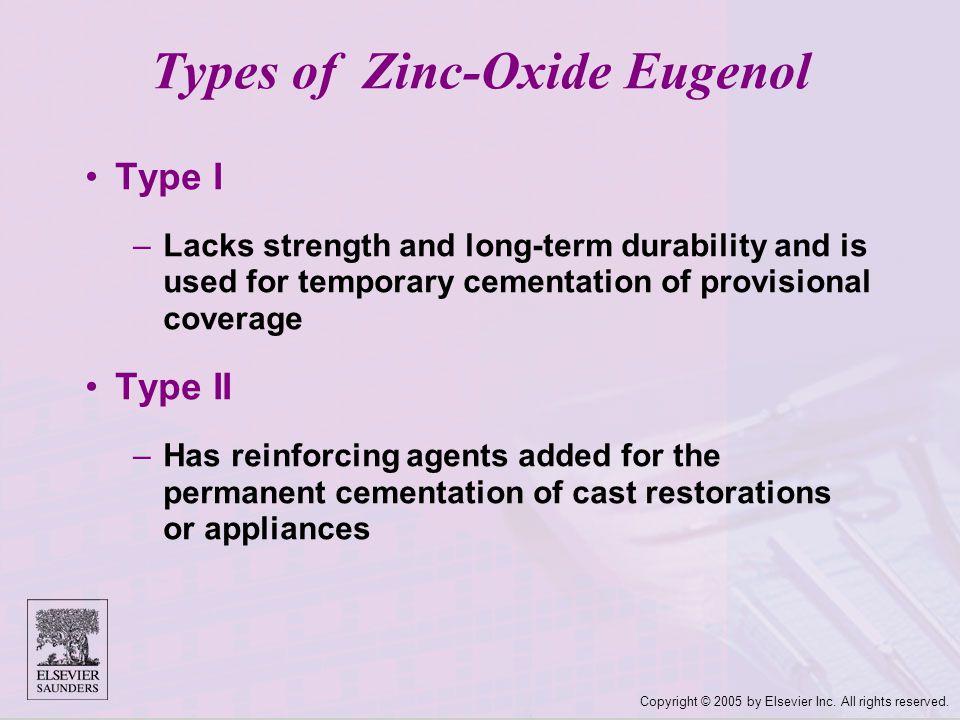 Types of Zinc-Oxide Eugenol