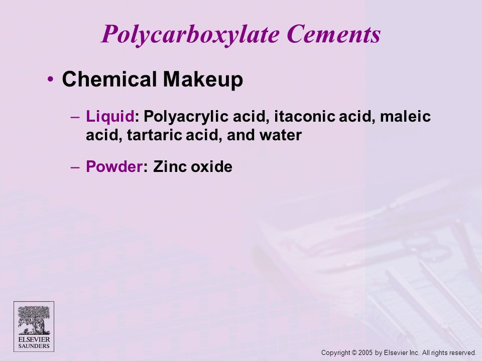Polycarboxylate Cements