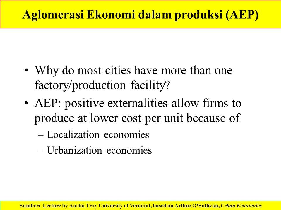 Aglomerasi Ekonomi dalam produksi (AEP)