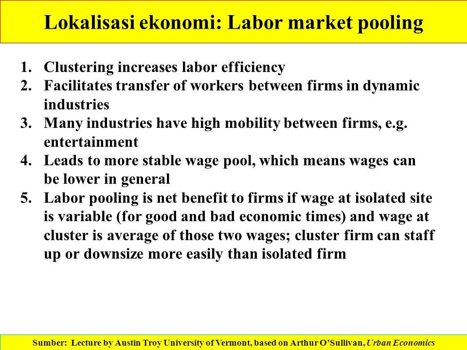 Lokalisasi ekonomi: Labor market pooling