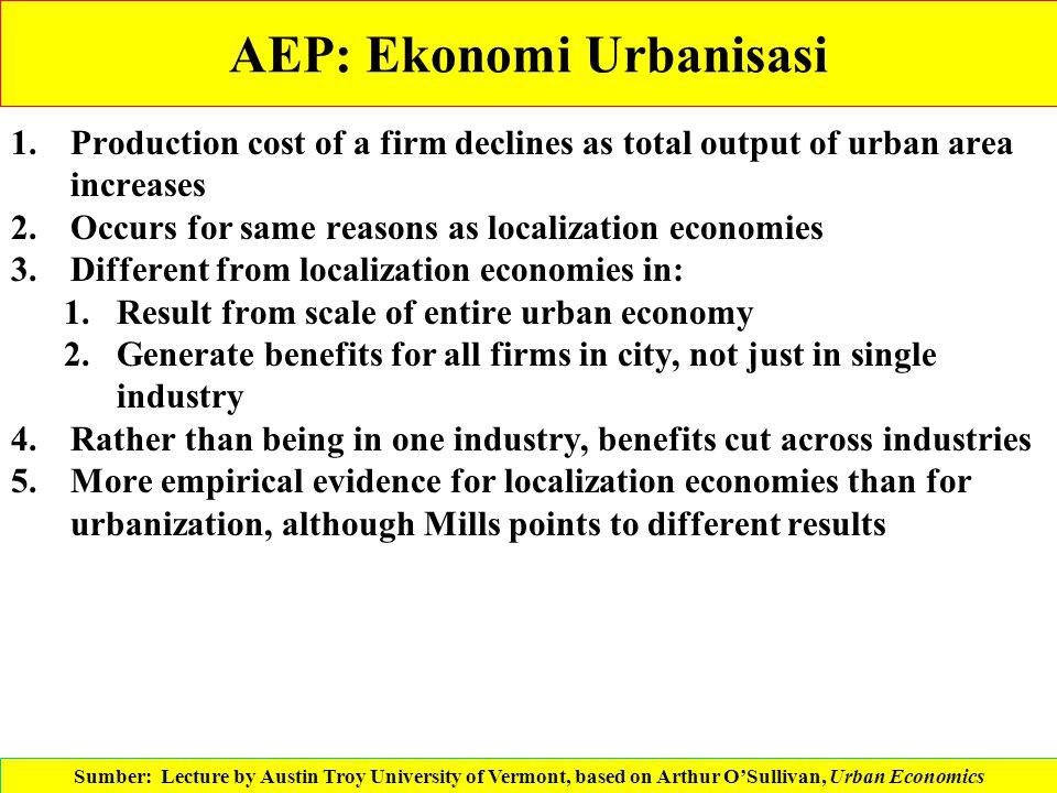 AEP: Ekonomi Urbanisasi