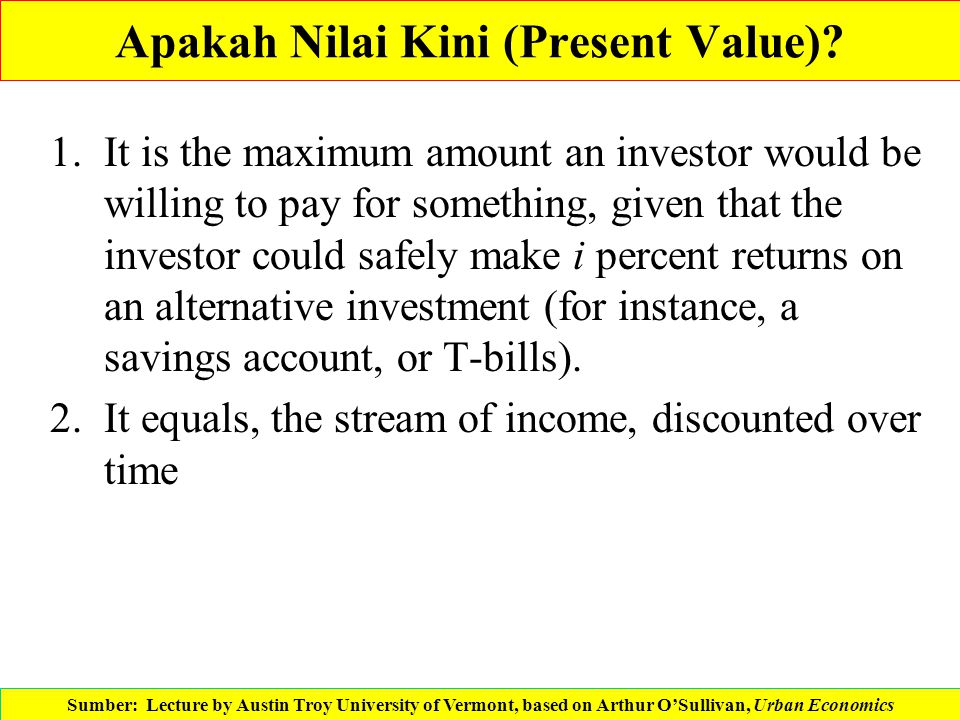 Apakah Nilai Kini (Present Value)