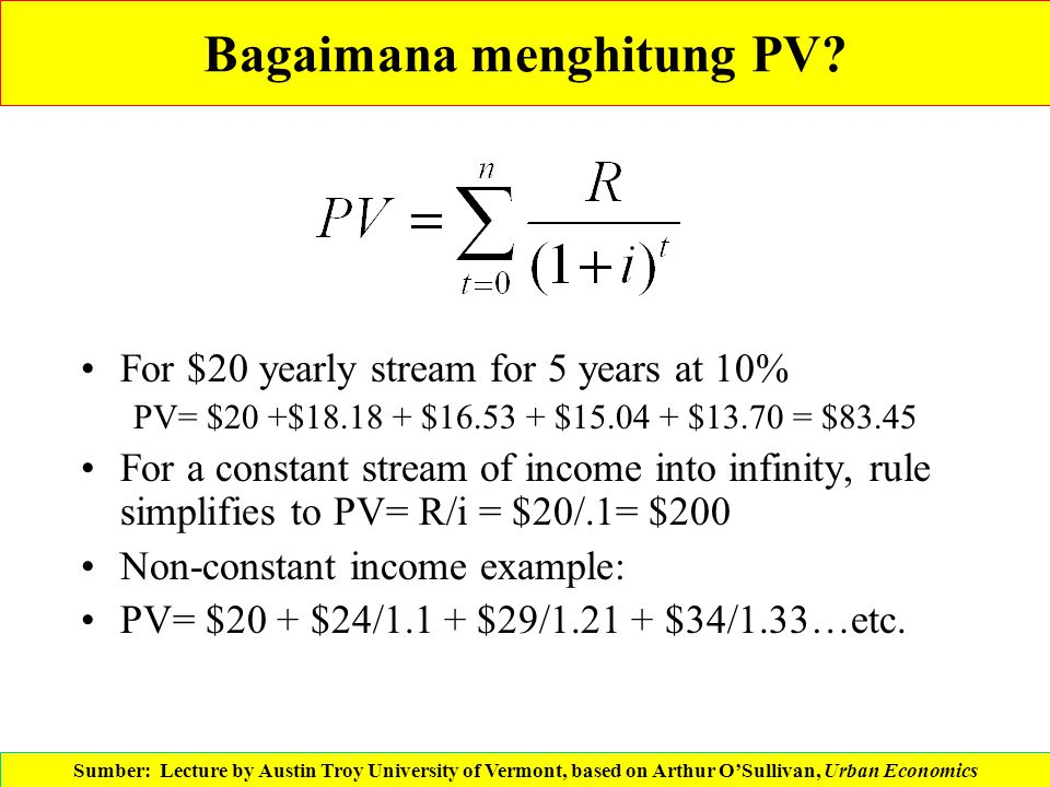 Bagaimana menghitung PV