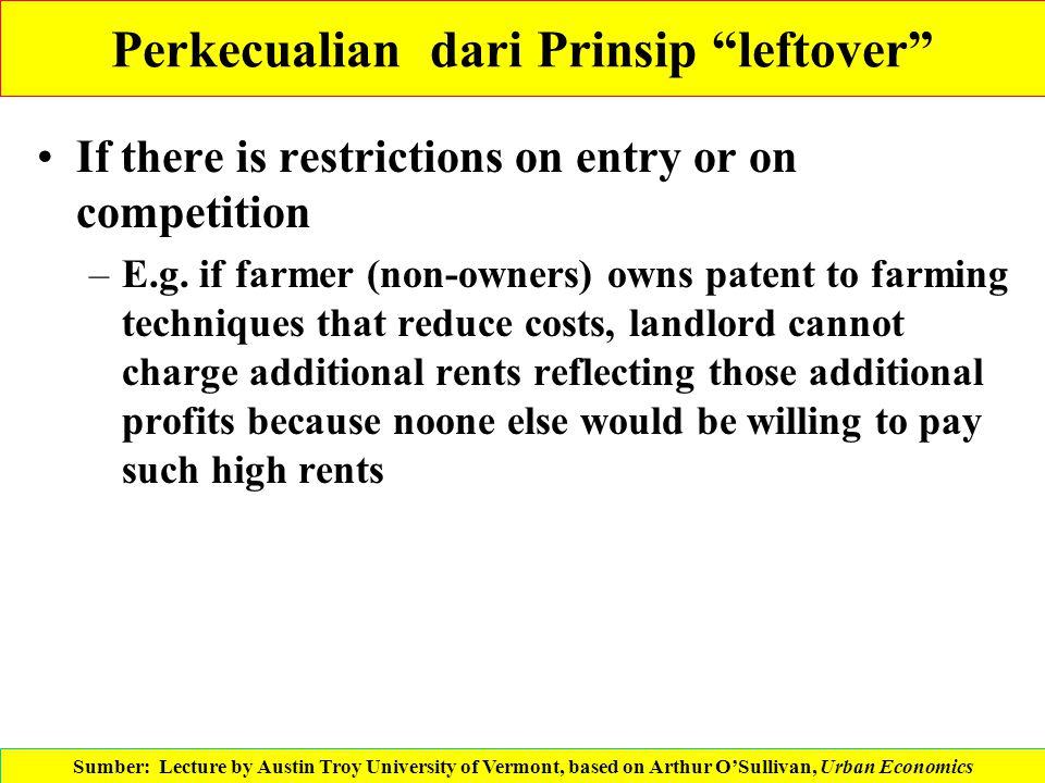 Perkecualian dari Prinsip leftover