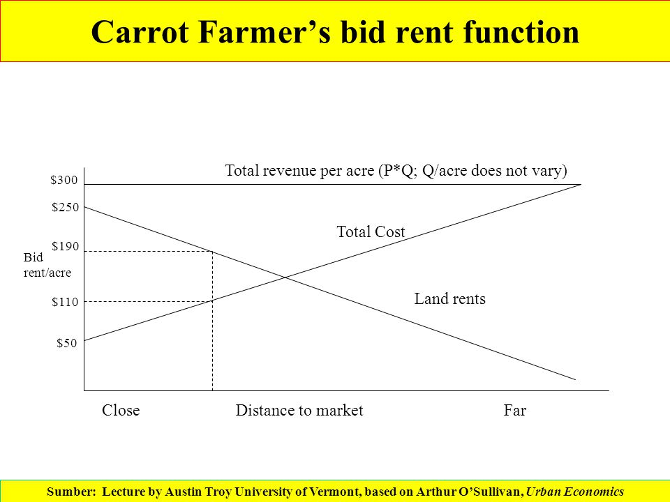 Carrot Farmer's bid rent function