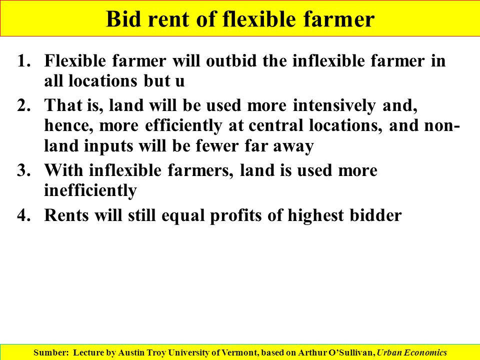 Bid rent of flexible farmer
