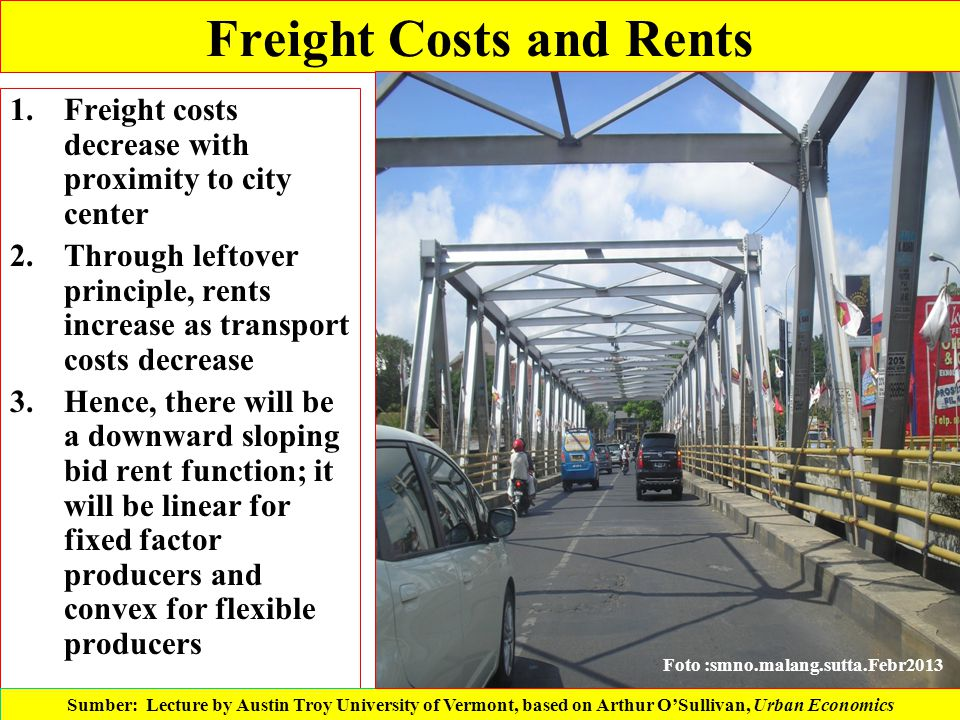 Freight Costs and Rents