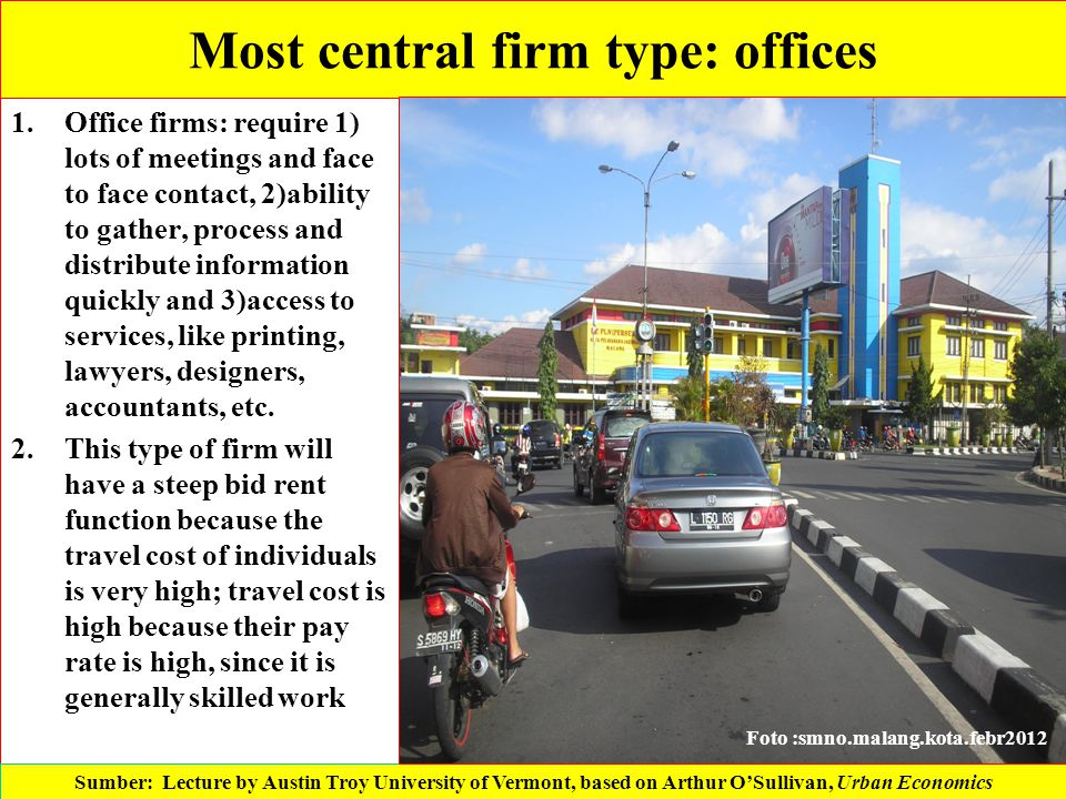 Most central firm type: offices