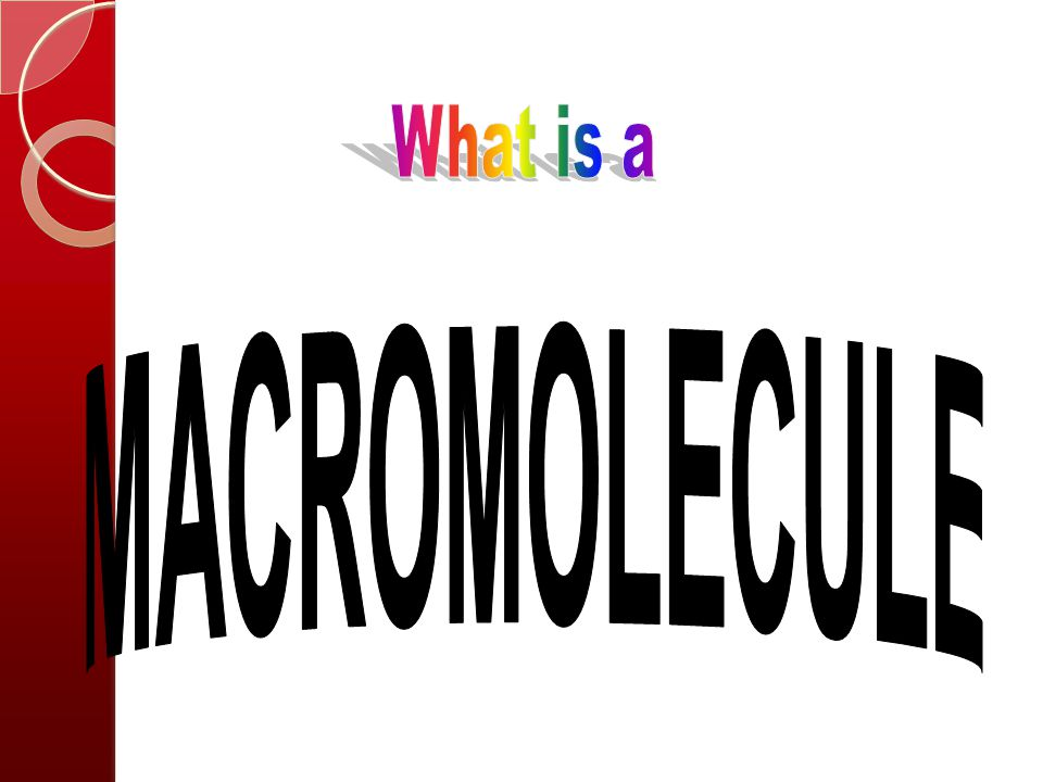 What is a MACROMOLECULE