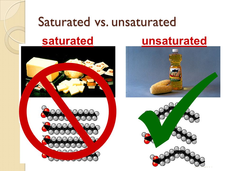 Saturated vs. unsaturated