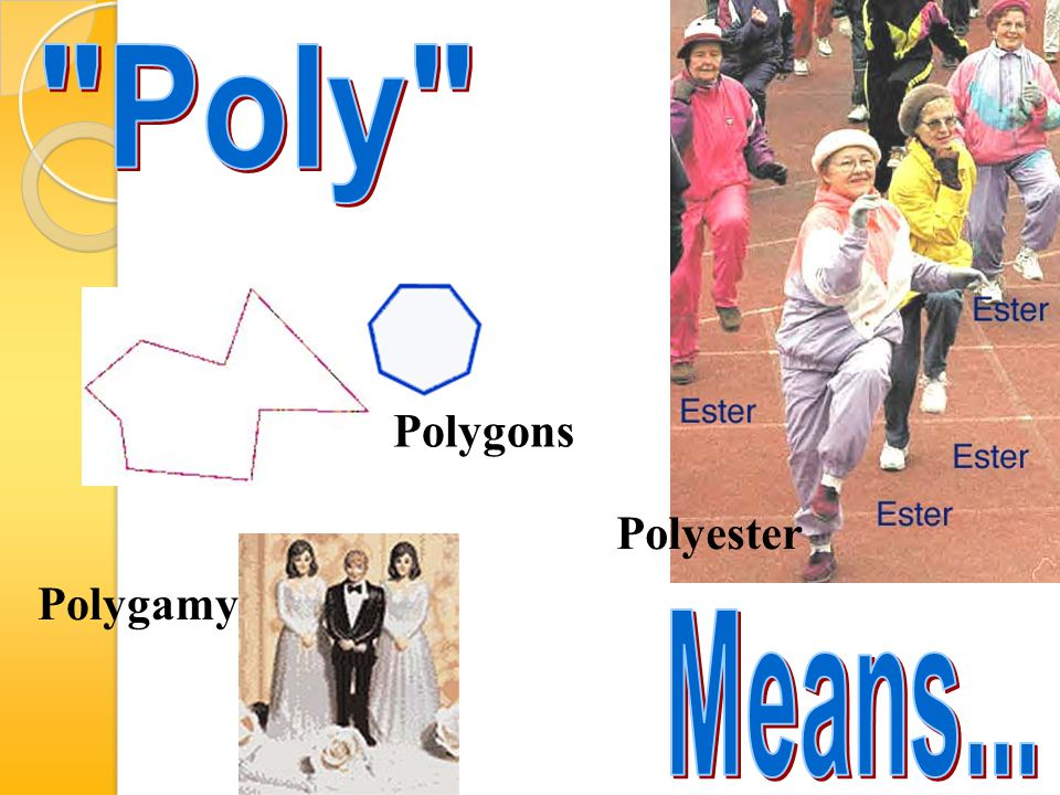 Poly Polygons Polyester Polygamy Means...