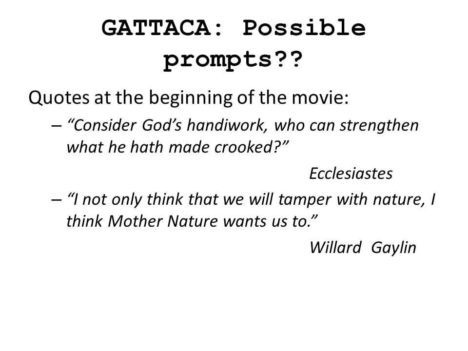 future worlds context gattaca ppt video online 3 gattaca possible prompts