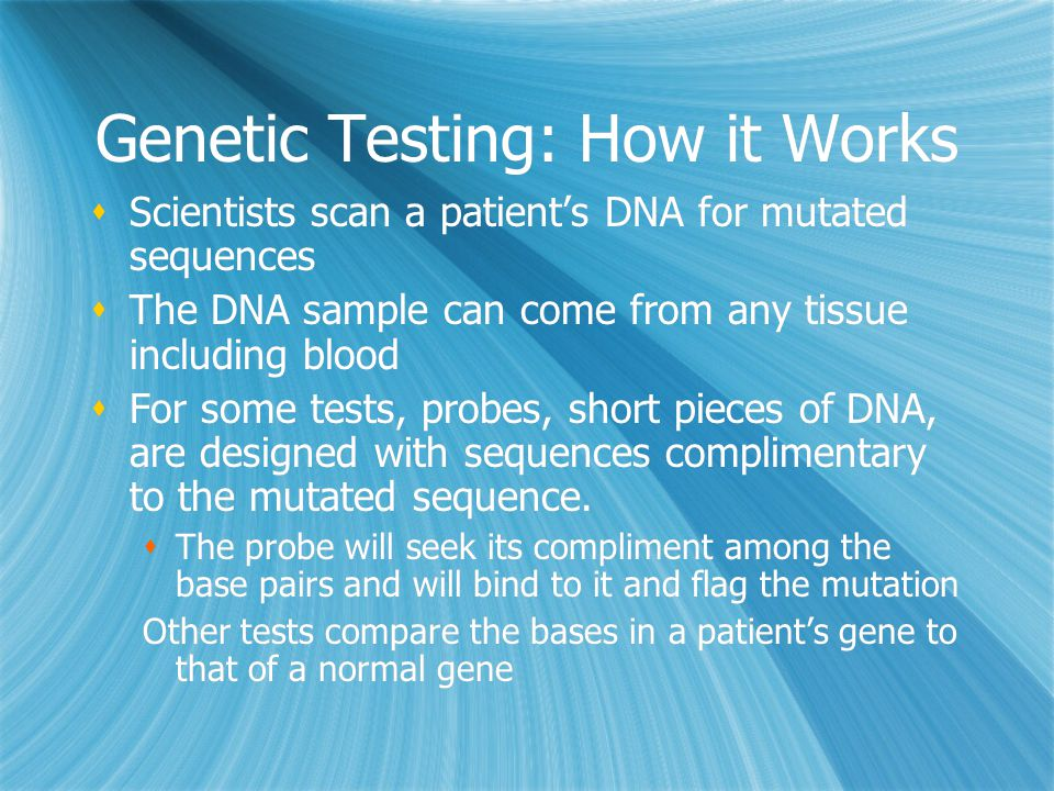 Genetic Testing: How it Works
