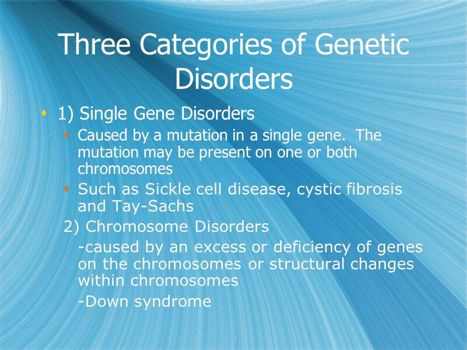 Three Categories of Genetic Disorders