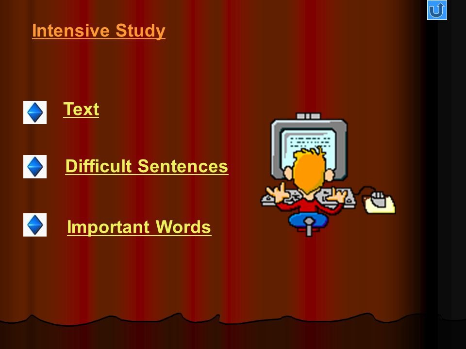 Intensive Study Text Difficult Sentences Important Words