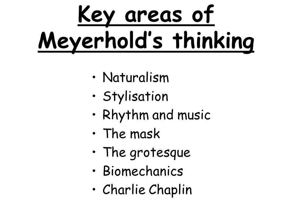 Key areas of Meyerhold's thinking