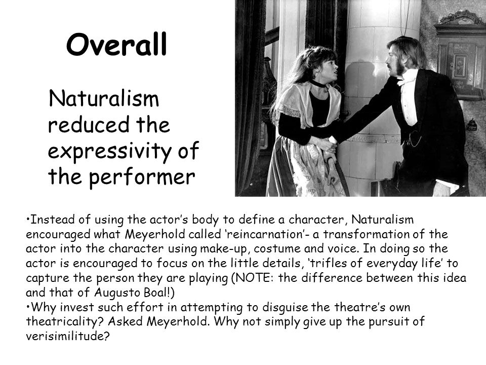 Overall Naturalism reduced the expressivity of the performer