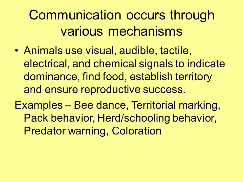 Communication occurs through various mechanisms