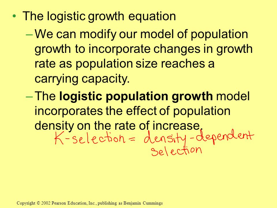 The logistic growth equation