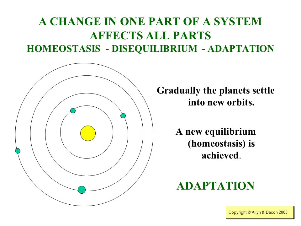 Gradually the planets settle into new orbits.