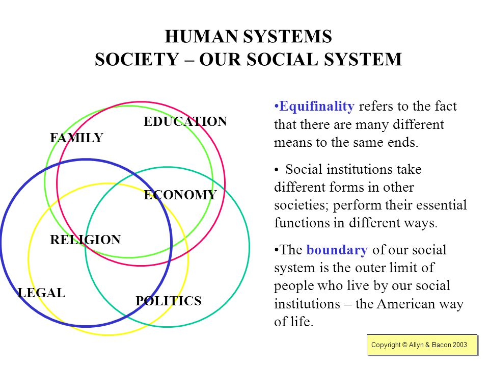 HUMAN SYSTEMS SOCIETY – OUR SOCIAL SYSTEM