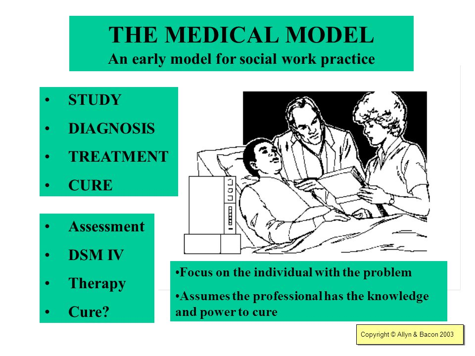 THE MEDICAL MODEL An early model for social work practice
