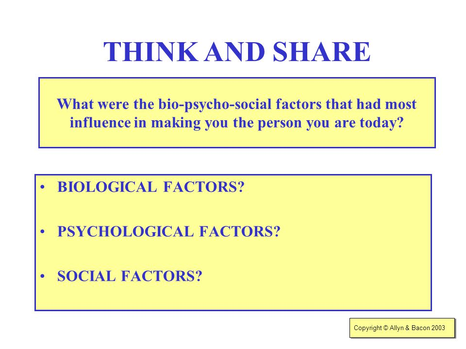 biological factors influence human relationships New page 1 ib psychology power 4 explain how biological factors may affect one cognitive process: 5 psychology of human relationships 1.