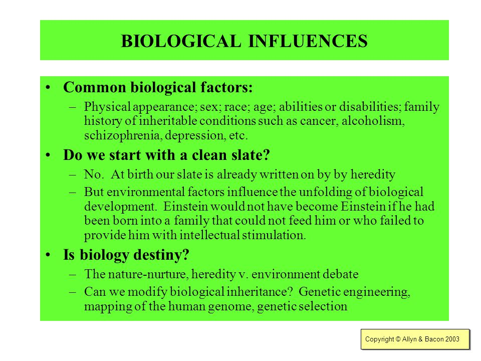 the genetic psycho social and environmental factors in the development of alcoholism Environmental factors can mitigate genetic risk for developing alcohol problems november 8, 2012, alcoholism: clinical & experimental research.