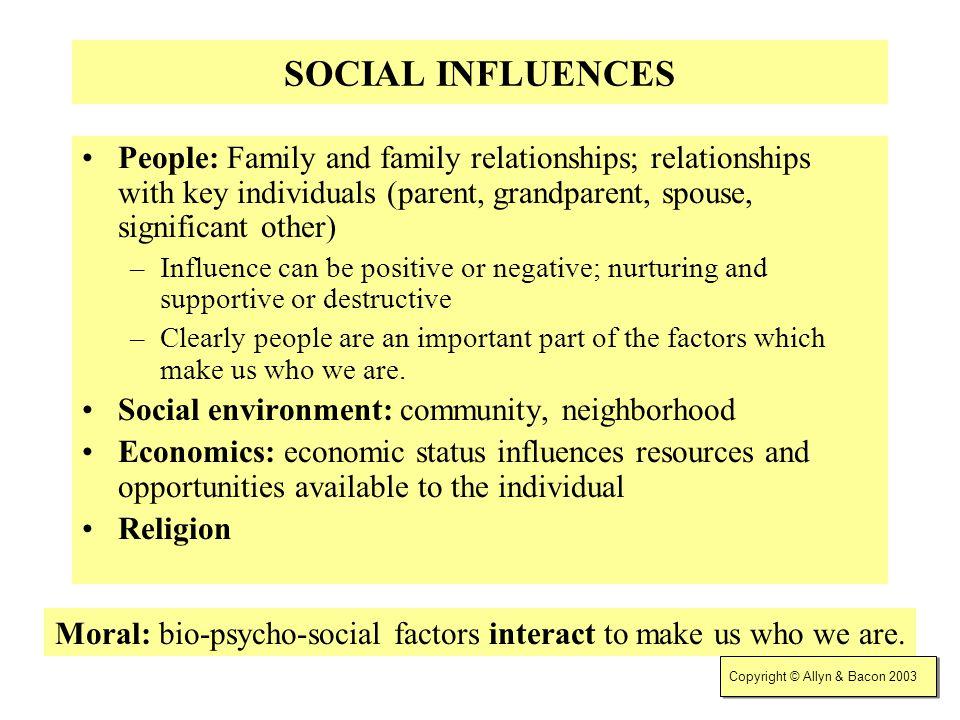 Moral: bio-psycho-social factors interact to make us who we are.