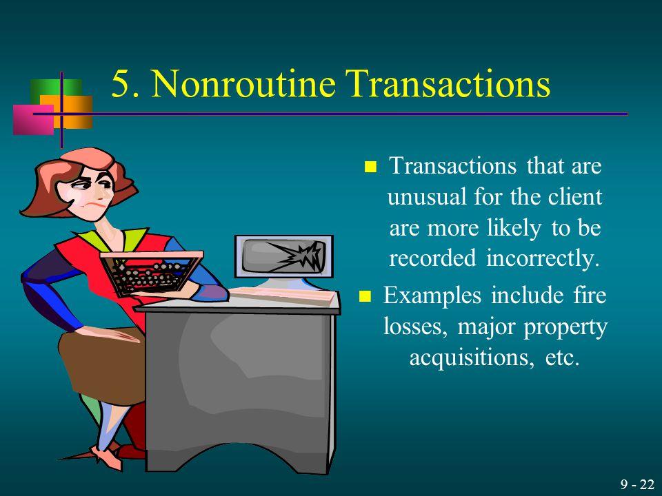 5. Nonroutine Transactions