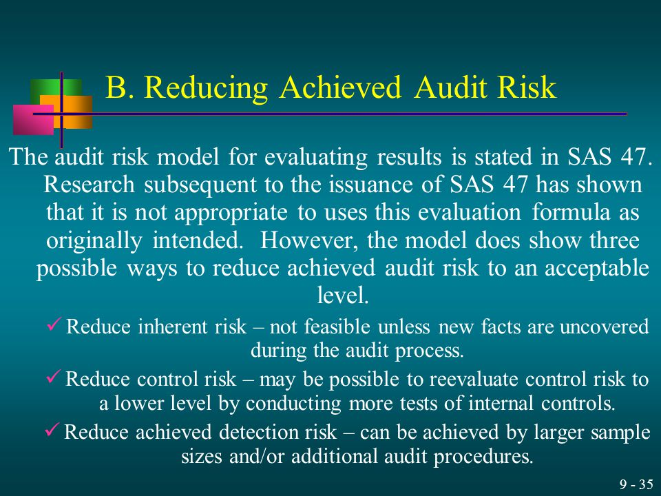 B. Reducing Achieved Audit Risk