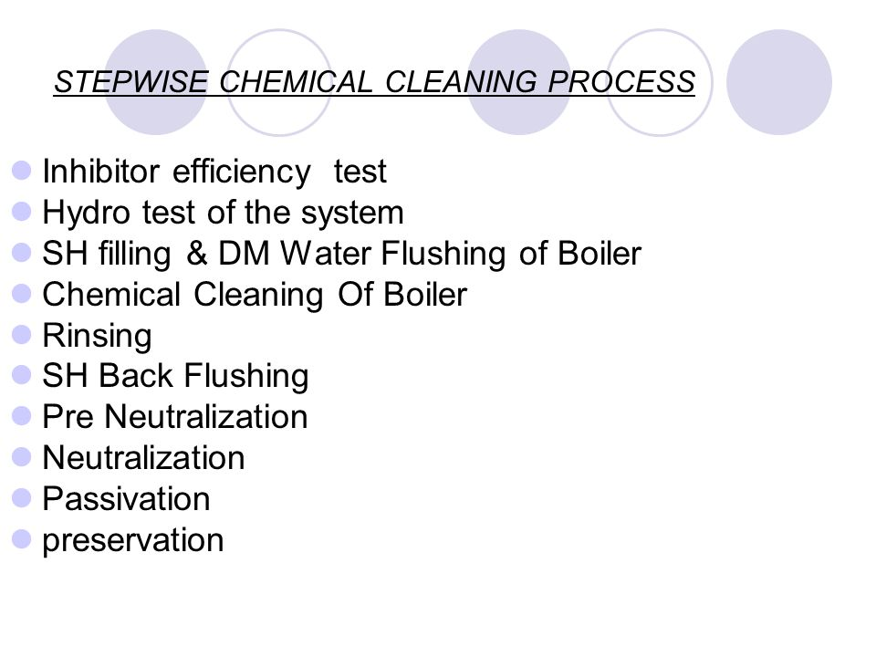 STEPWISE CHEMICAL CLEANING PROCESS