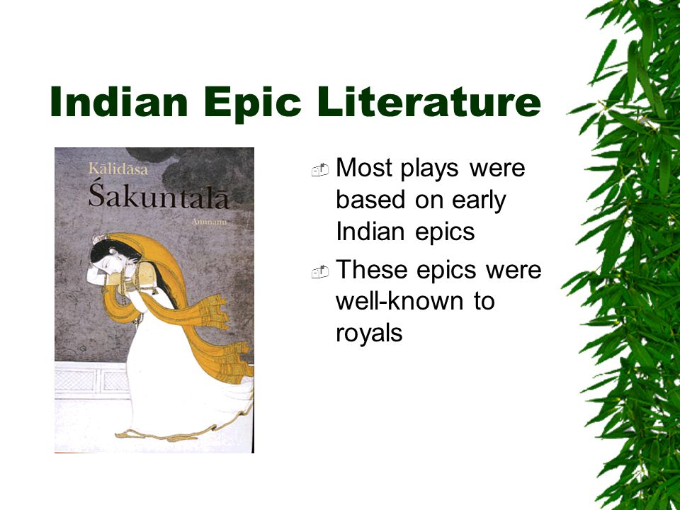 Indian Epic Literature