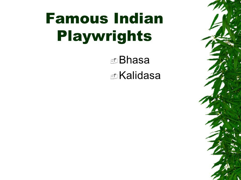 Famous Indian Playwrights