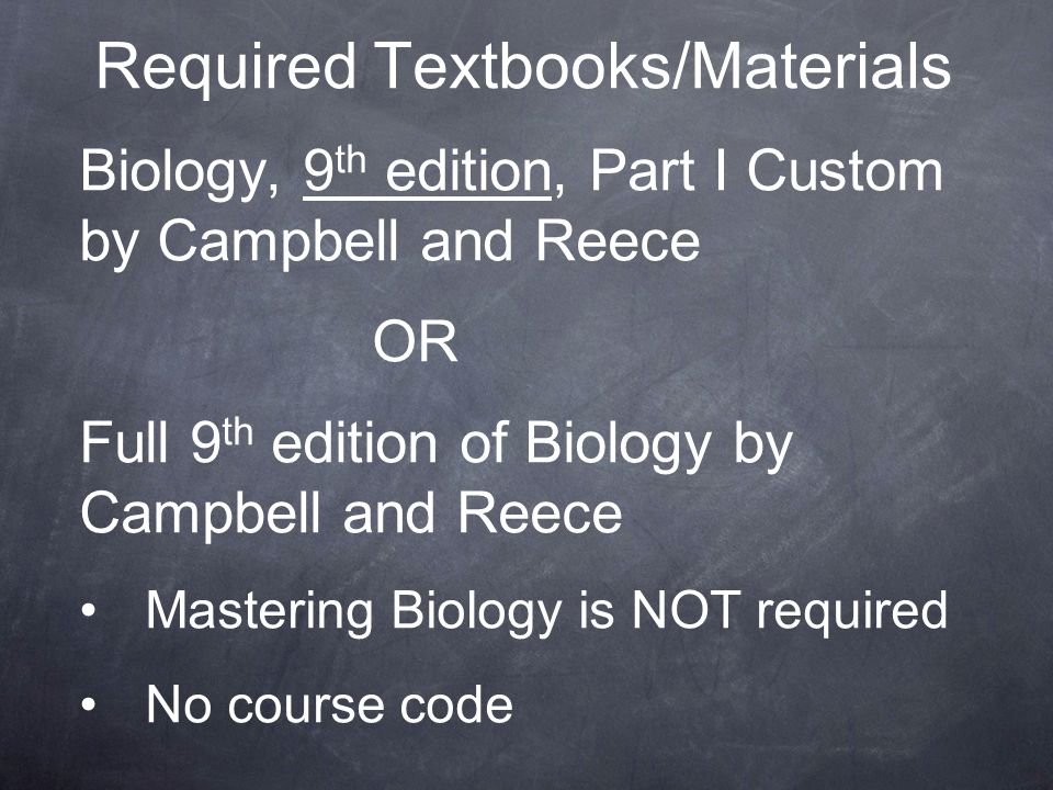 Required Textbooks/Materials