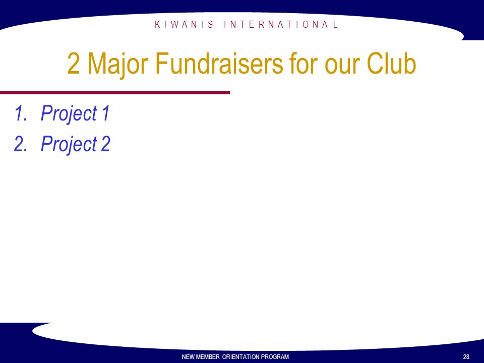 2 Major Fundraisers for our Club
