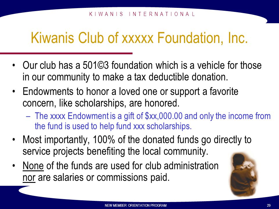 Kiwanis Club of xxxxx Foundation, Inc.