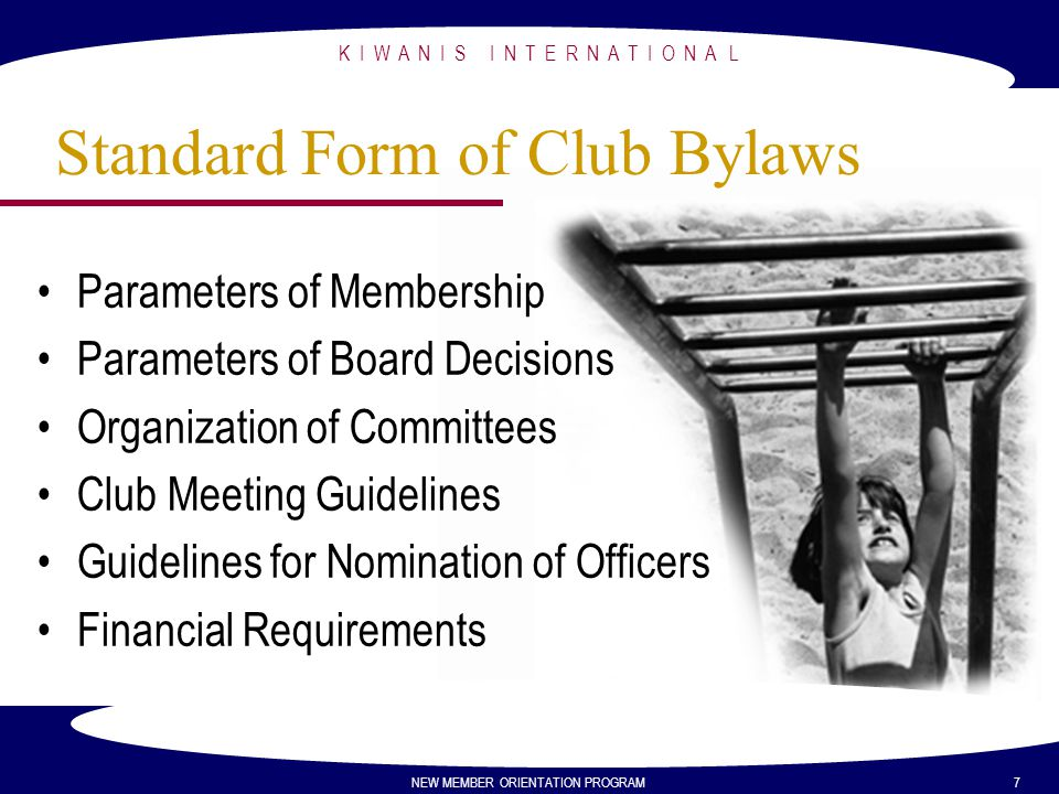 Standard Form of Club Bylaws