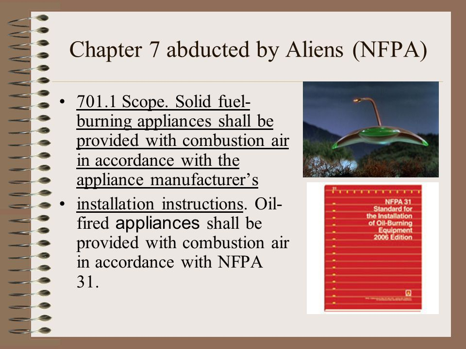 Chapter 7 abducted by Aliens (NFPA)‏