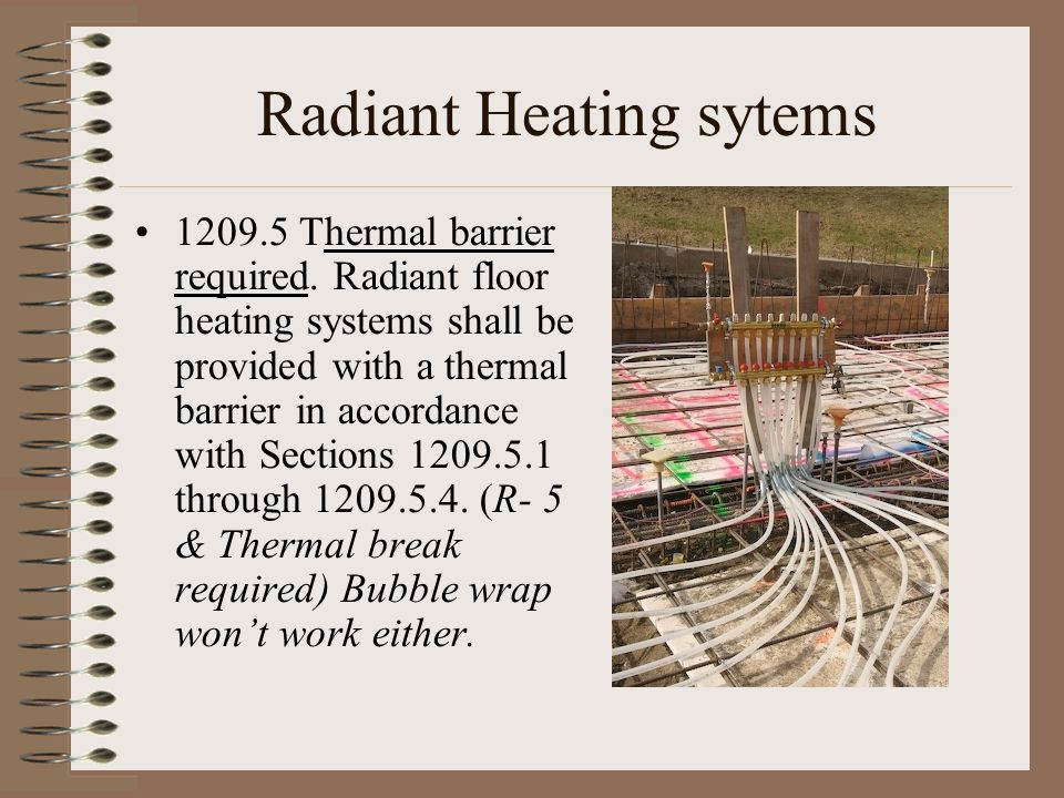 Radiant Heating sytems