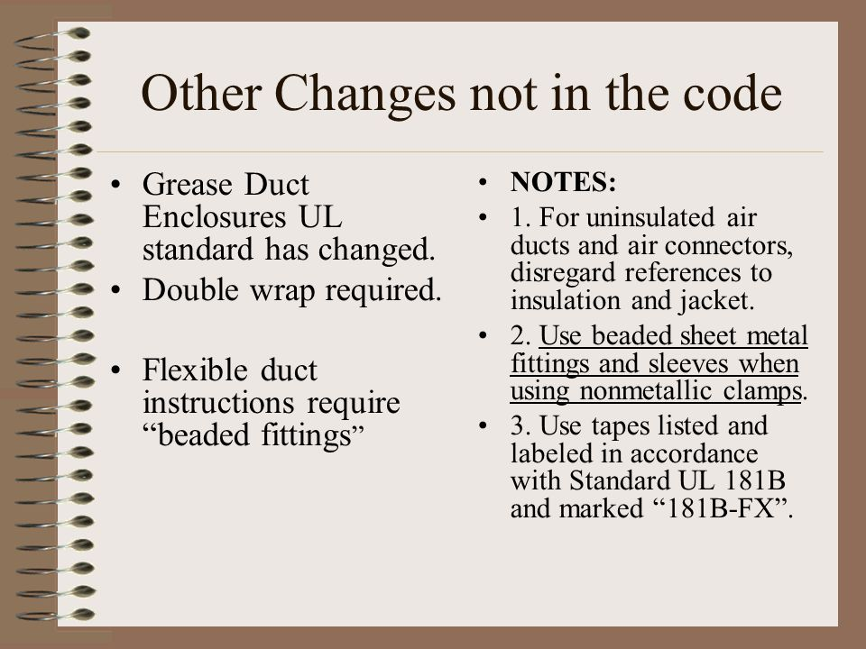 Other Changes not in the code