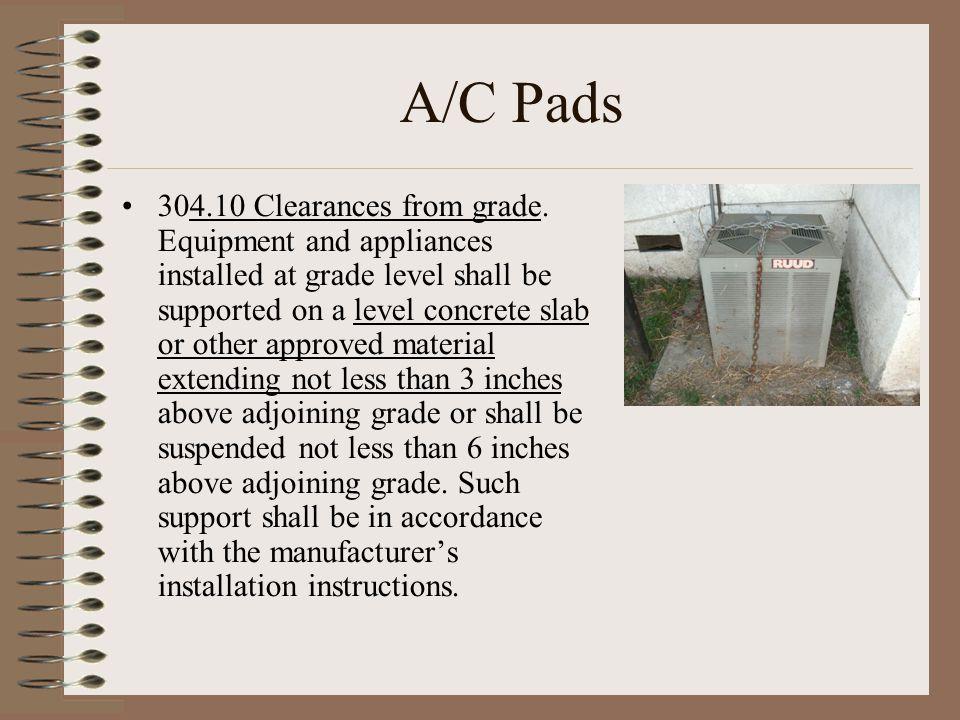A/C Pads