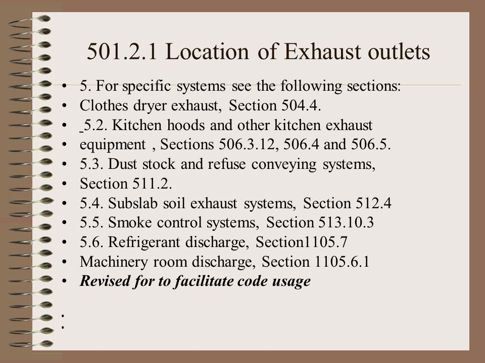 501.2.1 Location of Exhaust outlets