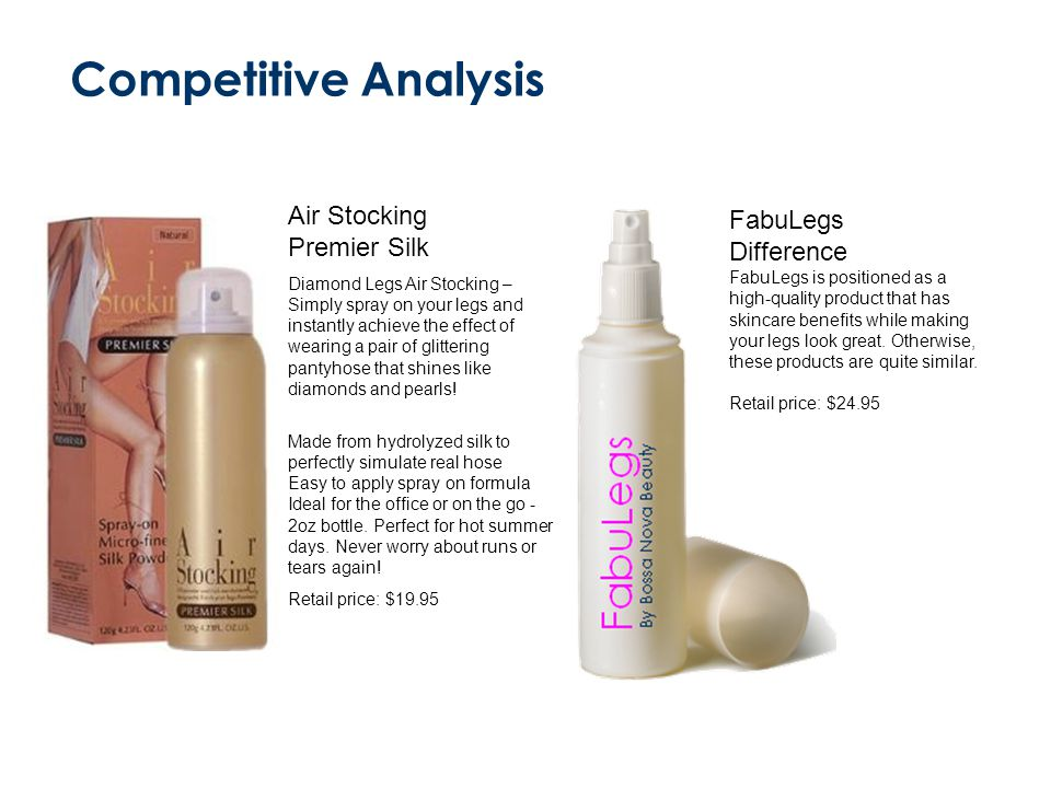 Competitive Analysis Air Stocking FabuLegs Premier Silk Difference