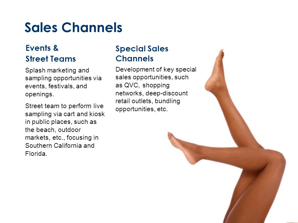 Sales Channels Events & Special Sales Channels Street Teams