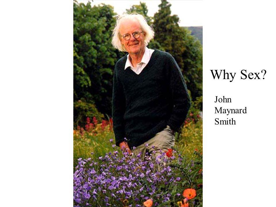 Why Sex John Maynard Smith