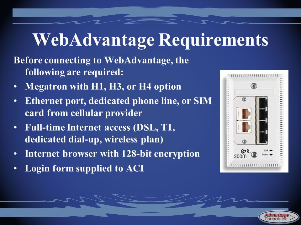 WebAdvantage Requirements