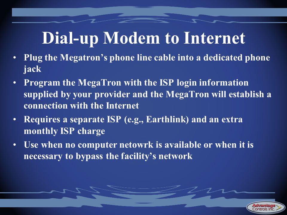 Dial-up Modem to Internet